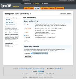 opendns-service-add-domain