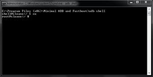 windows-adb-shell-su-root