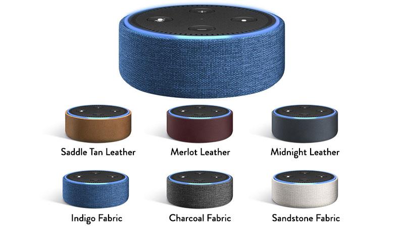 Echo Dot Case Charcoal Fabric
