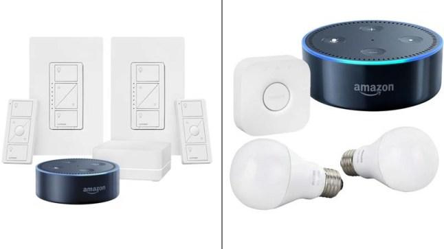 echo-dot-lighting-kits-philips-hue-lutron