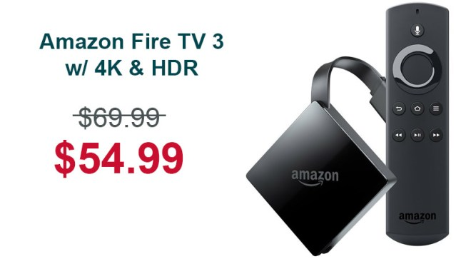 amazon fire tv 3rd gen 2017 is on sale for on. Black Bedroom Furniture Sets. Home Design Ideas