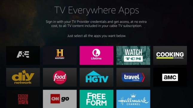 Amazon Fire TV now supports Single Sign-On in TV Everywhere