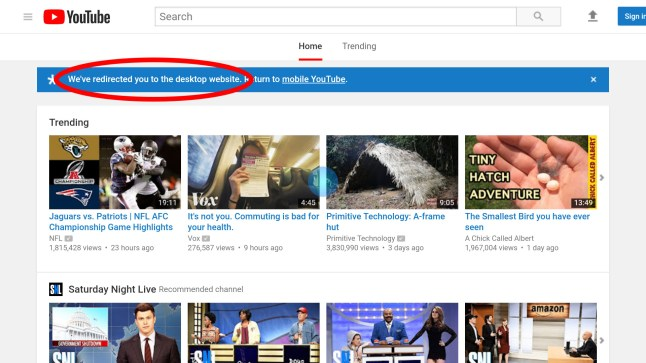 Google effectively breaks YouTube on Amazon Fire TV browsers