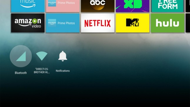 Android TV's Leanback Launcher has been modified to run on