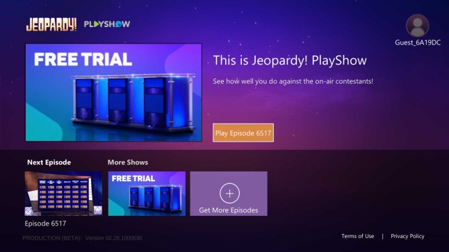 Jeopardy! PlayShow lets you play along as you watch the trivia game