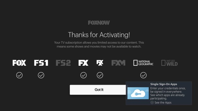 FOX NOW, FX, FOX Sports, National Geographic apps merge into