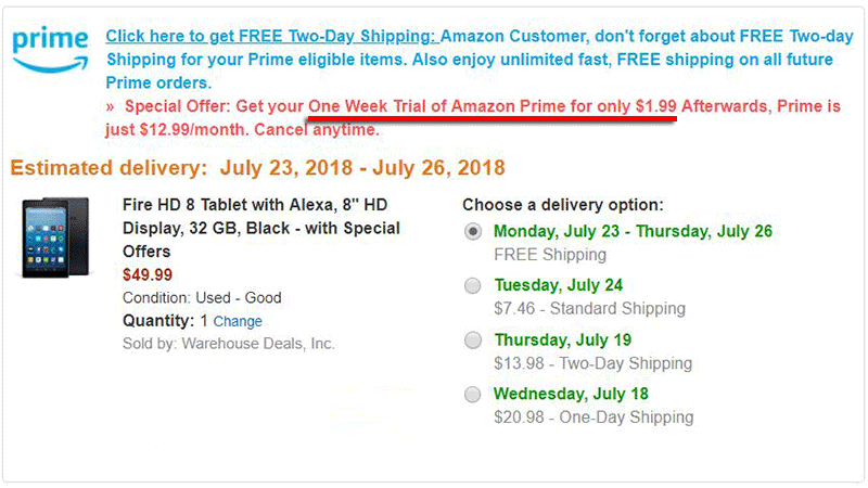 Amazon Has Been Offering One Week Trials Of Amazon Prime For 1 99 To Former Prime Members Aftvnews