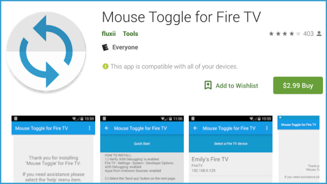Mouse Toggle app now works with the Amazon Fire TV Cube