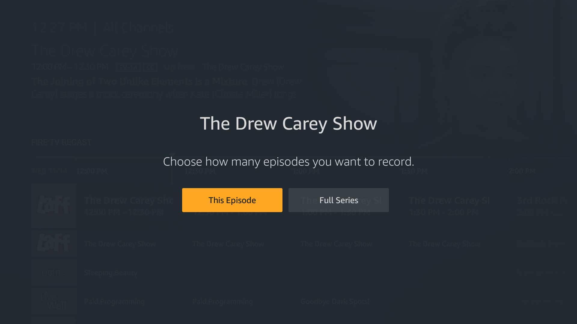 All the different ways to find and record programs on the Amazon Fire TV Recast