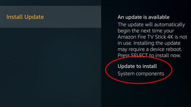 Amazon Fire TVs now allow you to check for and install