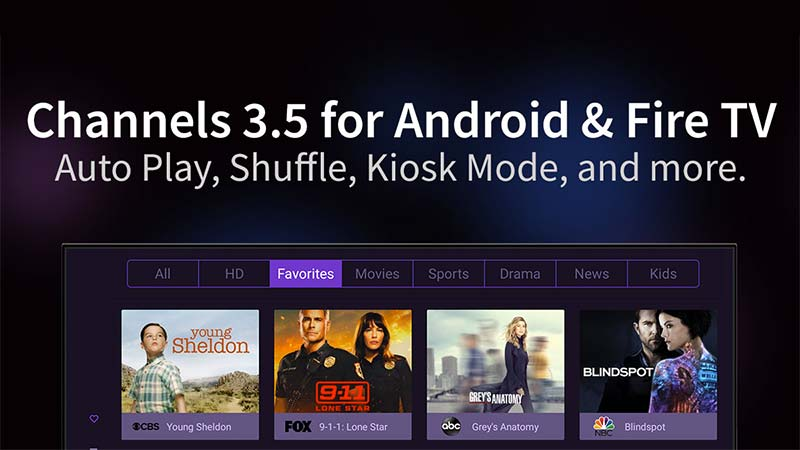 Channels app updated on Fire TV and Android TV with a bunch of new features