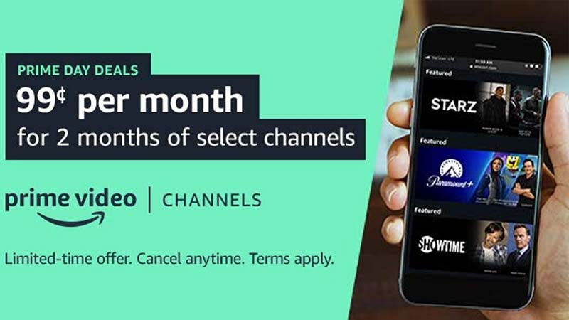 Prime Video Channels like Paramount+, Discovery+, AMC+, Showtime, STARZ, and many more are on sale for $0.99/month