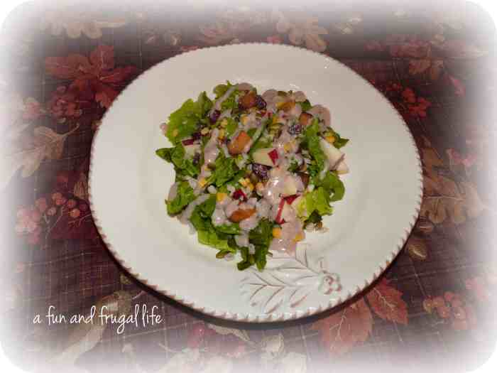 Autumn Chopped Salad from A Fun and Frugal Life