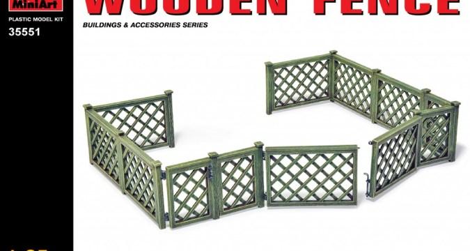 MiniArt 35551 - WOODEN FENCE
