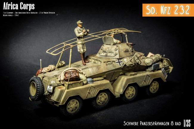 Sd Kfz 232 8 RAD - DAK - North Africa 1941