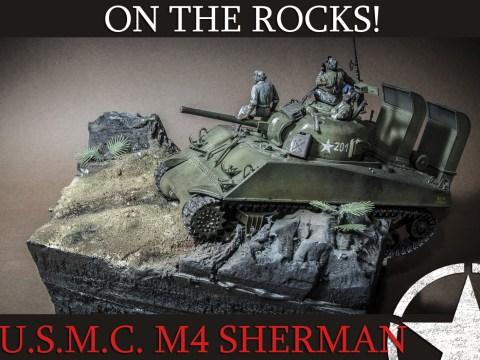US MARINE CORPS Deep Wading M4 Sherman