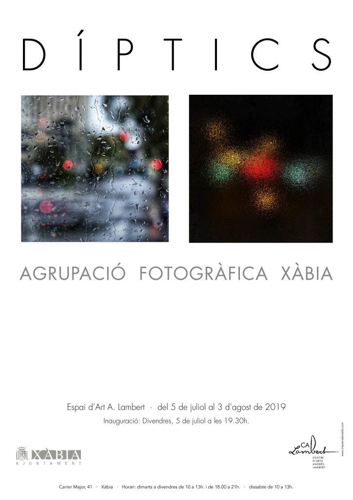 cartel Diptics exposicion colectiva de AFX Javea