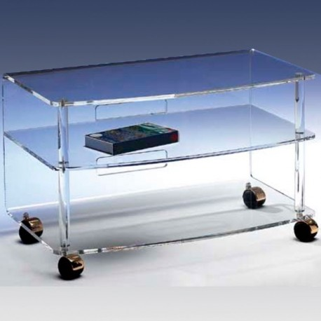 meubles plexiglass meuble tv jonc