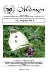 Melanargia 25 Heft 4 Titelbild