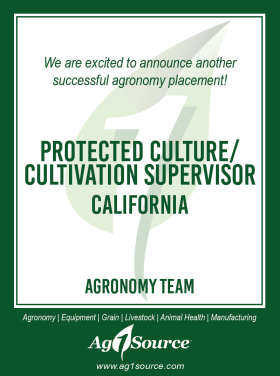 Protected Culture/Cultivation Supervisor