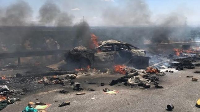 """قتلى وجرحى في """"كارثة"""" بالطريق السيار قرب أكادير (صور)"""