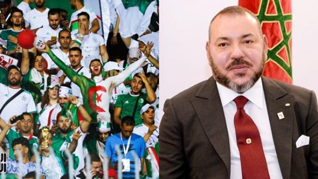 """الملك يهنئ الجزائريين.. """"تتويجكم بمثابة فوز للمغرب أيضا"""""""