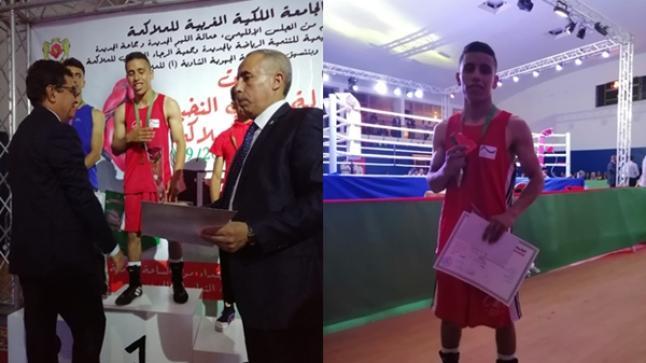 الملاكم أولباشا من أنزا.. ممثل وحيد لجهة سوس ماسة يُتوج ببطولة المغرب