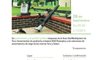 CANCELACIÓN- jornada Agaexar: Demostración de maquinaria profesional y automatismos de riego