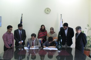 Signing Ceremony between AGAHI and IMSPeshawar