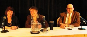 (L-R) Ann Okerson, Laura Quilter, William Hannay