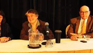 (L-R) Ann Okerson, Laura Quilter, William Hannay