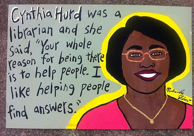 Portrait of Cynthia Hurd by Panhandle Slim.