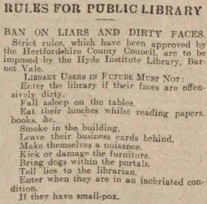 old school library rules