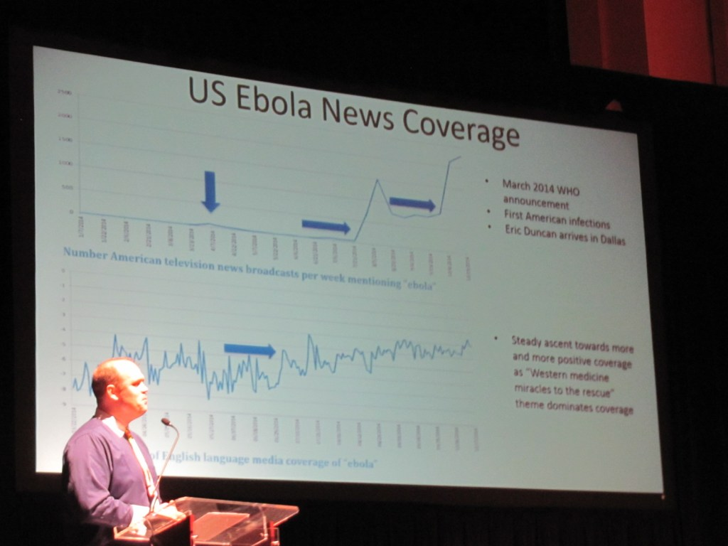 News coverage of Ebola