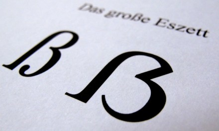 ATG Quirkies: A New Letter in the German Alphabet Is Born