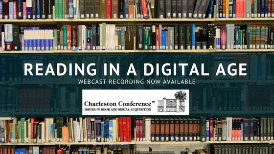 Recording Now Available: Reading in a Digital Age
