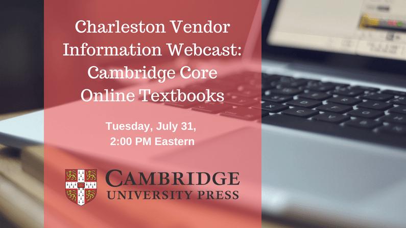 Free Webcast: Cambridge Core Online Textbooks