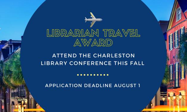 ATG Newsflash: Call for applications: JoVE Librarian Travel Award – Charleston Conference 2018