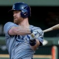 Logan Forsythe has cooled down in the last month. Flickr/Keith Allison/http://bit.ly/1Gn3Vff