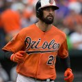 Nick Markakis is one of the better outfielders in batting average and on-base percentage. Flickr/Keith Allison/http://bit.ly/1Mi8skA