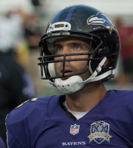Joe Flacco should bounce back this week in the start/sit week 4 quarterback list. Flickr/http://bit.ly/1hvmOnE/Keith Allison