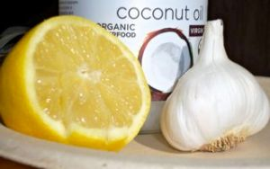 Lemon Garlic Coconut oil