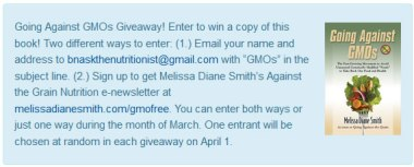 Going Against GMOs giveaway