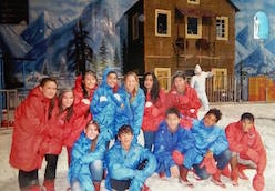 Academy Fellows take Tajik and Afghan students to Snow World