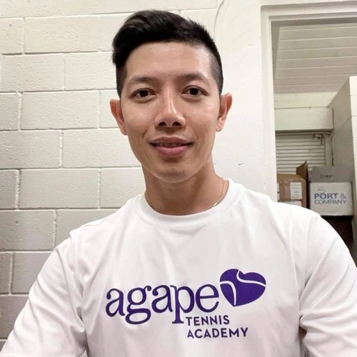 Coach Andy Nguyen at Agape Tennis Academy at Fountain Valley Tennis and Pickleball Center