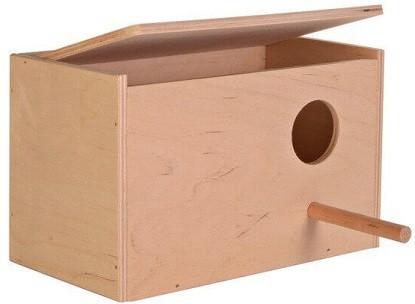 puerta caja nido para inseparable
