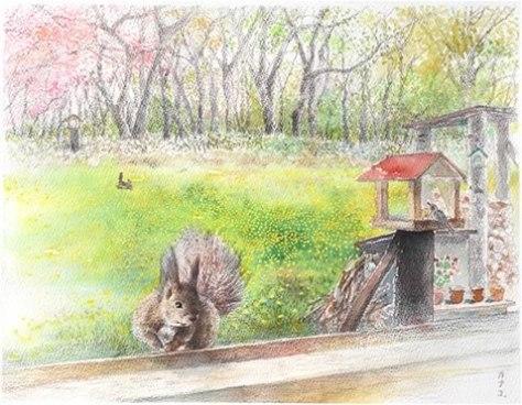 nature sketchbook-5月の窓辺 水彩6号⇒売却済み