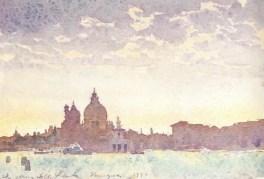 夕暮れのサンタマリア教会