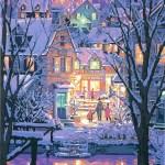 笹倉鉄平「ニューイングランドの冬」(シルクスクリーン)→売約済み