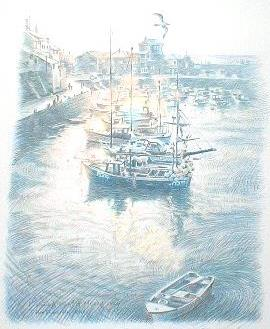 """笹倉鉄平「フィッシングボート - """"Fishing Boats""""」"""